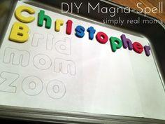 DIY Magna-spell for beginner spellers