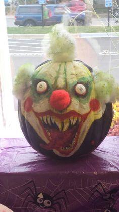 Scary clown pumpkin (painted)
