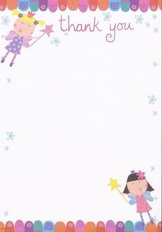Pack of 20 Cute Thank You Notes & Envelopes - Fairy Princess: Amazon.co.uk: Toys & Games