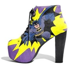 Batman Litas: so I can wear heels to cons and not get weird looks. Batman Heels, Batman Boots, Cute Shoes, Me Too Shoes, Funny Shoes, Fab Shoes, Nananana Batman, Batman And Batgirl, Zapatos Shoes