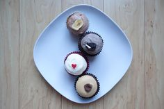 Cupcakes by We The Minis. From Top: Banana Nutella, Cookies n' Cream, Red Velvet & Peanut Butter Cup.