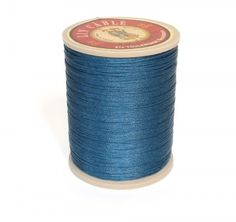 Linen Thread: Blue $36.00 This is a great waxed linen thread for leather and leatherworking but also bead making, costume jewelry and even bookbinding.  Check @ www.fineleatherworking.com #fineleatherworking