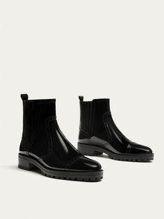 f292b5af398347 BOTIN PIEL TRACK NEGRO de MUJER - Zapatos - Ver todo de Massimo Dutti de  Otoño