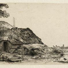 Rembrandt Etchings, Rembrandt Drawings, Rembrandt Art, Amsterdam, Dutch Painters, Landscape Drawings, Dutch Artists, Ink Pen Drawings, Wood Engraving