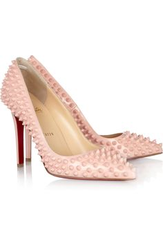 CHRISTIAN LOUBOUTIN // Pigalle Spikes 100 patent-leather pumps