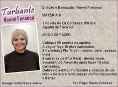 Turbante em Tricô com Receita Exclusiva de Noemi Fonseca - Katia Ribeiro Crochê Moda e Decoração