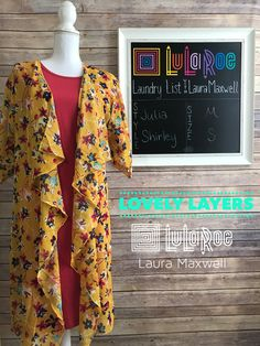 LuLaRoe Julia and LuLaRoe Shirley make a perfect fall fashion combination. Light layers as the days just start to cool... plus you can't go wrong with this gold floral! Join my VIP in the link for outfits and other styling tips!