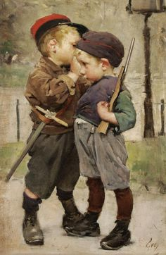 View Le consigné by Henry Jules Jean Geoffroy on artnet. Browse upcoming and past auction lots by Henry Jules Jean Geoffroy. Paintings I Love, Beautiful Paintings, Fine Art, Vintage Pictures, Oeuvre D'art, Vintage Children, Painting & Drawing, Art History, Vintage Art