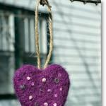 Tutorial: Embroidered Felted Heart Ornament