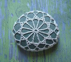 Crocheted Lace Stone - from Monicaj (via Etsy)