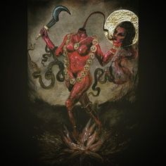 Kali Goddess, Goddess Art, India Images, Divine Mother, Side Tattoos, Hindu Deities, Hindu Art, Gods And Goddesses, Occult
