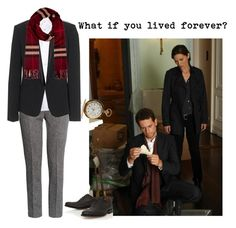 """""""Dr. Henry Morgan"""" by vintageevelyn ❤ liked on Polyvore featuring H&M, Crippen, rag & bone, Burberry, Grenson, forever, IoanGruffudd, DrHenryMorgan, ForeverTVShow and HenryMorgan"""