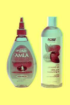 Optimum Salon Haircare Amla Legend Rejuvenating Oil, $10.99, available at Walgreens; Now Solutions Sweet Almond Oil, $7.99, available at GNC.