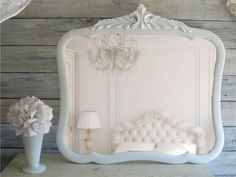 vintage shabby chic mirror cottage chic french country wooden mirror ...1158 x 871 | 143.4KB | www.etsy.com