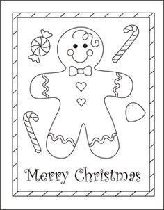 christmas coloring cards for kids printable free coloring cards gingerbread boy gingerbread man