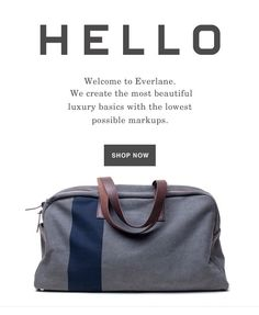 email / New Member / Welcome email / Everlane
