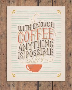We love coffee here at Sevenly :)