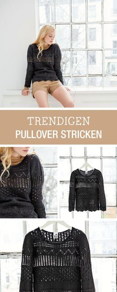 DIY-Anleitung: Trendigen Pullover für den Herbst stricken, Wintermode / DIY tutorial: knitting trendy pullover for autumn, fall and winter fashion via DaWanda.com