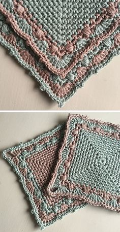 Make a Cake Potholder Free Crochet Pattern Susan Crawford mootbrie Craft Ideas Easy Square Crochet Potholders. Are you in the mood for retro vibes? This set of adorable potholders is all about the old-fashioned rustic style. If you want to make your Crochet Motifs, Crochet Potholders, Afghan Crochet Patterns, Crochet Squares, Knitting Patterns, Embroidery Patterns, Loom Patterns, Crochet Shawl, Knitting Yarn
