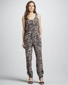 Rachel Zoe Printed Silk Jumpsuit
