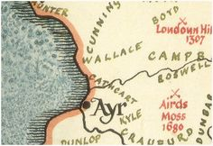 Wallace Clan Map. Ayr is where your great grandpa Crawford came from.