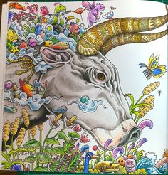 Animorphia: Brahma Bull with Budget Priced Pencils. – La Artistino – Peta Hewitt