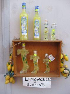 Ah, the famous Limoncello of Sorrento, Italy Italy Trip, Italy Travel, Sorrento Italy, Limoncello, Amalfi Coast, Trip Planning, Italia, Italy