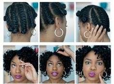 Flat Twist Bantu Knot out Loveliness