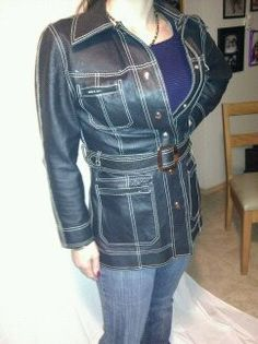 Vintage  Leather Jacket by prettyprettygirl on Etsy, $35.00