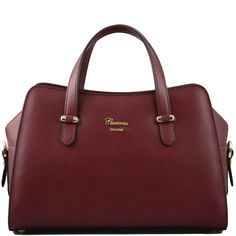 The Lucia Tumbled Leather Handbag In Bordeaux Is True Italian Style And Quality Made Italy From Genuine It S Available Australia