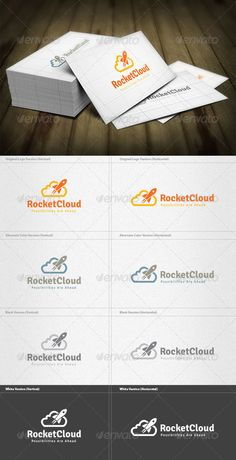 Rocket Cloud  - Logo Design Template Vector #logotype Download it here: http://graphicriver.net/item/rocket-cloud-logo/5960554?s_rank=693?ref=nesto