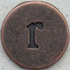 Copper Lowercase Letter r by Leo Reynolds, via Flickr; This photo set is brought to you by the letter r