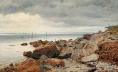 Janus La Cour (1837-1909): At the seaside, 1873