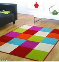 Nice and bright statement rug...
