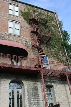 Eureka Springs, Ark. - The backs of the buildings are as amazing as the fronts.