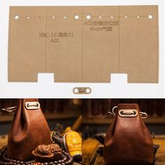 Cheap Sewing Patterns, Buy Directly from China Suppliers:DIY Leather Craft women handbag back pack Key bag Storage Sewing Pattern Hard Kraft paper Stencil Template Leather Wallet Pattern, Sewing Leather, Backpack Storage, Bag Storage, Backpack Craft, Leather Diy Crafts, Leather Craft, Leather Tooling, Leather Purses