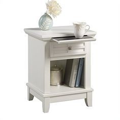 $105 / $189 Home Styles 5182-42 Arts and Crafts Night Stand, White Finish