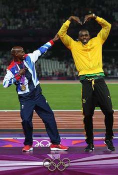 Totalposter.com - Mo Farah & Usain Bolt
