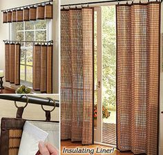 Bamboo Window Panels from Fresh Finds on Catalog Spree, my personal digital mall. Bamboo Curtains, Bamboo Panels, Bamboo Blinds, Drapes Curtains, Blinds For Windows, Window Panels, Windows And Doors, Curtain Panels, Interior Exterior