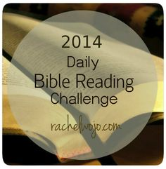 Hey Friends! I'm excited to be unveiling our 2014 Daily Bible Reading Challenge today! This week I posted various daily Bible reading plans from which you can choose so that you would have an opportunity to look over them. You can choose methods that vary from a daily schedule to print and mark to email reminders or apps...