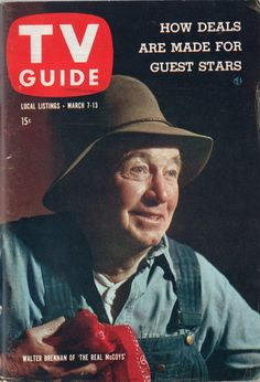 """Walter Brennan of """"The Real McCoys""""  March 7-13 1959"""