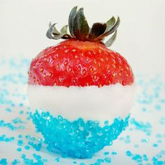 Buzzed Strawberry Bites (Rum Soaked Strawberries)- When I posted a recipe for Buzzed Cherry Bombs,many of you asked if you could do something similar with strawberries. The answer is, Y...