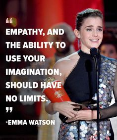 Emma Watson and Millie Bobby Brown have made history by becoming the first stars to accept gender-neutral acting awards in mainstream… Emma Watson Frases, Emma Watson Quotes, Emma Watson Feminism, Millie Bobby Brown, Girl Quotes, Woman Quotes, Hp Quotes, Enma Watson, Tv Awards