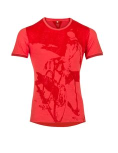 Le Patron slim fit red T-shirt