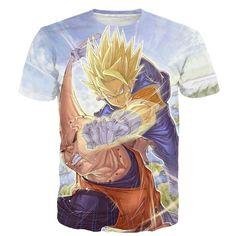 Dragon Ball Z - Vegito Punching Super Buu Buuhan T-shirt - 3D Clothing