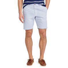 Men's Chaps Straight-Fit Seersucker Shorts, Size: 42, Blue