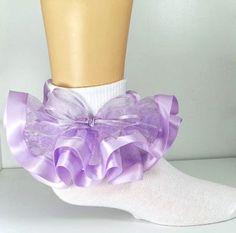 Organza Ruffle Socks by GlamClosetKidz on Etsy, $10.00