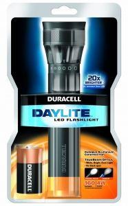 Depend on a Duracell Daylite 2C LED Torch for a consistent source of brilliant light during your next demanding task. Conveniently powered by C LR14 included batteries, this LED torch delivers light that's up to 20 times brighter than a standard LED torch.