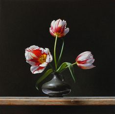 Still life with Tulips (Rembrandt tulp). Oil on panel, For sale - by Roman Reisinger. Rembrandt Etchings, Rembrandt Self Portrait, Rembrandt Drawings, Rembrandt Paintings, Rubens Paintings, Famous Art Paintings, Still Life Artists, Still Life Flowers, Watercolor Projects