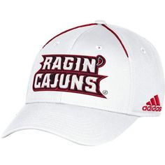 Adidas Men's University of Louisiana at Lafayette Coach Structured Flex Cap (White, Size Large/X Large) - NCAA Licensed Product, NCAA Men's Caps at...